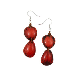 Nely earrings. Organic Tagua. Ecuador.