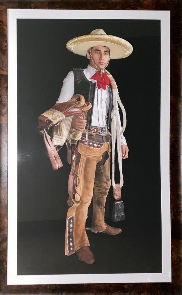 Don Rusell. Mexican Bull Rider Framed Photograph #1. Dallas, Tx.