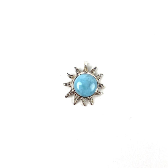 Larimar Factory. Sole Pendant. Santo Domingo, Dominican Republic.