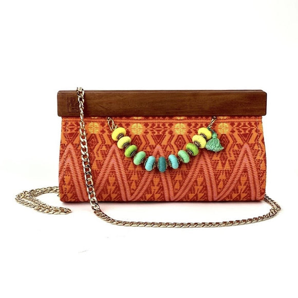 Morralito. Ceiba Red Clutch Bag. Guatemala.