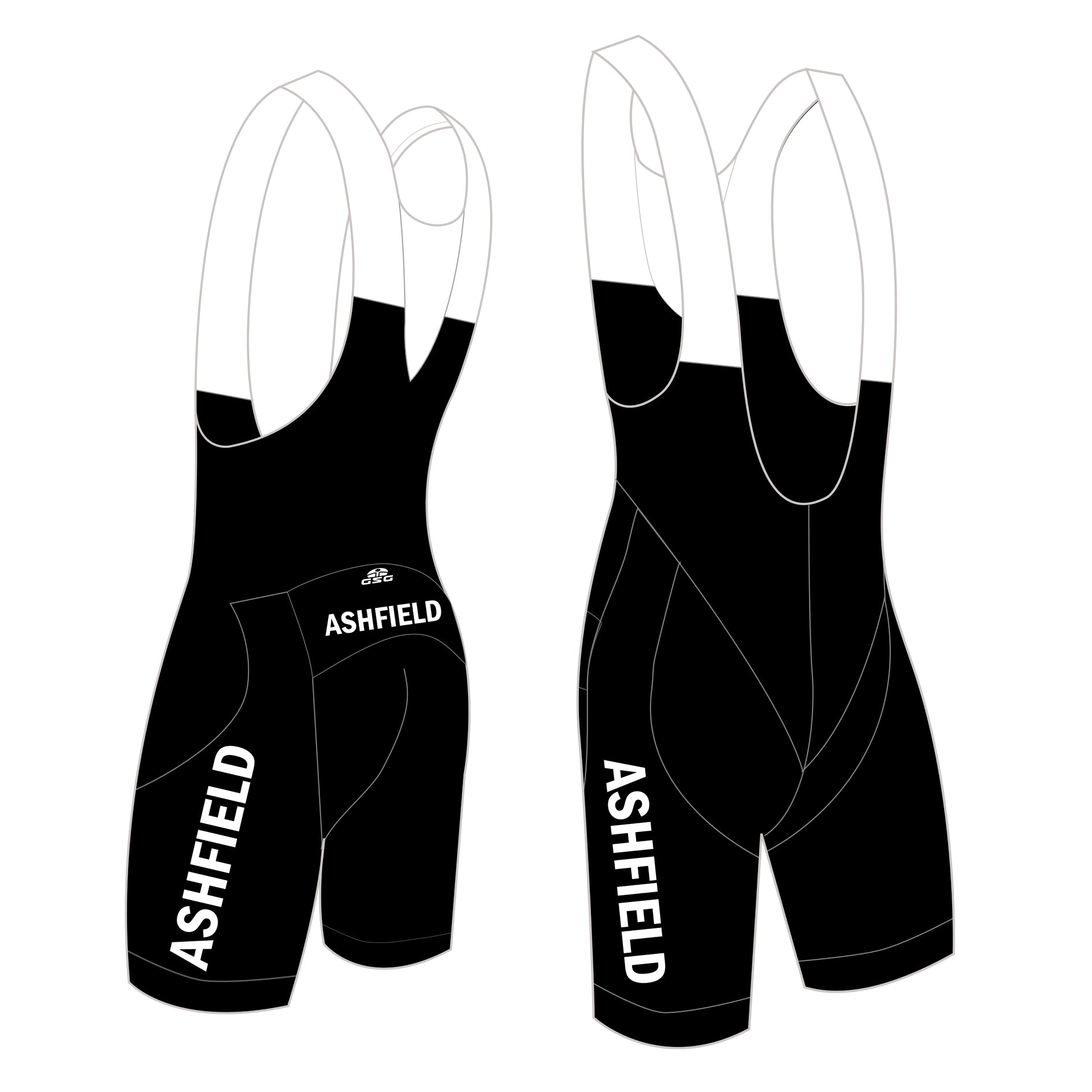 05358 / CHAMPION ANATOMIC BIBSHORTS / ASHFIELD