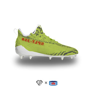"""Frozen Yellow YZY"" Adidas Adizero Cleats"