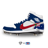 """Off-Australia"" Jordan 1 Retro Cleats"