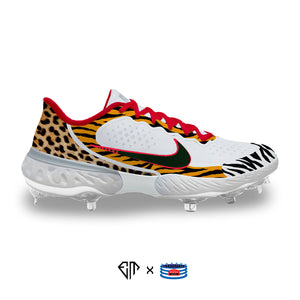 """Animal Style"" Nike Alpha Huarache Elite 3 Low Cleats"