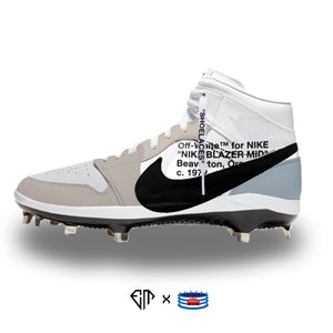 """OW Blazer"" Jordan 1 Retro Cleats"