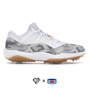 """Grey Camo"" Jordan 11 Retro Low Golf Shoes"
