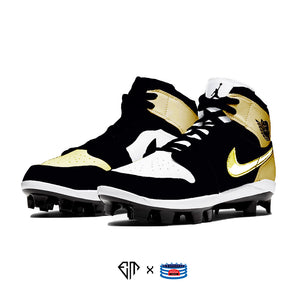 """Gold Toe"" Jordan 1 Retro Cleats"