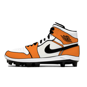 """Creamsicle"" Jordan 1 Retro Cleats"