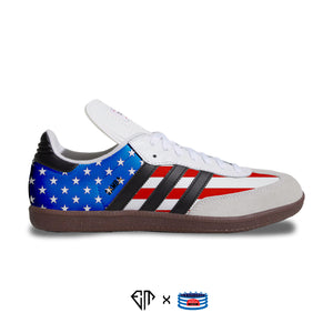 """Stars N' Stripes"" Adidas Samba Classic Shoes"