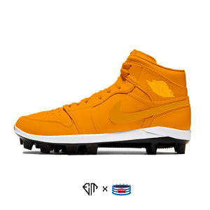 """Orange Sports Drink"" Jordan 1 Retro Cleats"