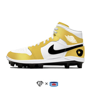 """Gold Glove"" Jordan 1 Retro Cleats"