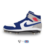 """BluRed Elephant"" Jordan 1 Retro Cleats"