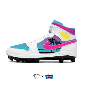 """South Beach"" Jordan 1 Retro Cleats"