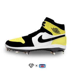 """Yellow Toe"" Jordan 1 Retro Cleats"