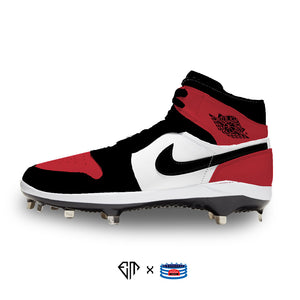"""Bred Toe"" Jordan 1 Retro Cleats"