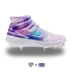 """Galaxy"" Nike Alpha Huarache Elite 2 Mid Cleats"