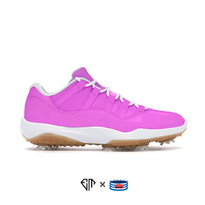 """Pink"" Jordan 11 Retro Low Golf Shoes"