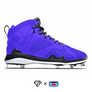 """Purple Elephant"" Jordan 7 Retro Cleats"