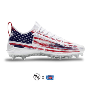 """USA Rustic"" Nike Alpha Huarache 7 Pro LAX Cleats"