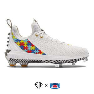 """Autism Awareness"" Under Armour Harper 5 Cleats"