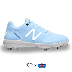 """Baby Blue Pastel"" New Balance 4040v5 Cleats"