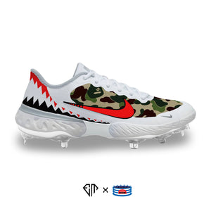"""Bape Shark"" Nike Alpha Huarache Elite 3 Low Cleats"
