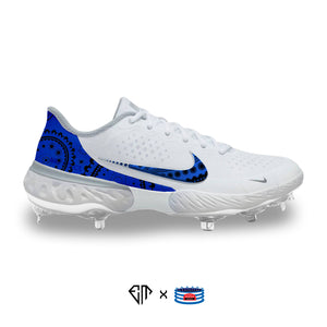 """Blue Bandana"" Nike Alpha Huarache Elite 3 Cleats"