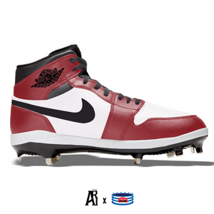 """Chicago"" Jordan 1 Retro Cleats"