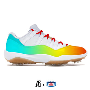 """Color Spectrum"" Jordan 11 Retro Low Golf Shoes"