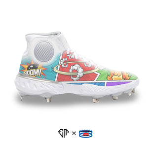 """Comic Book"" Nike Alpha Huarache Elite 3 Cleats"