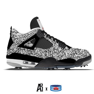 """Crazy Elephant"" Jordan 4 Retro Golf Shoes"