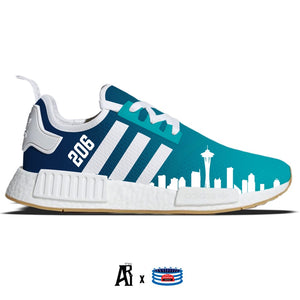 """Emerald City"" Adidas NMD R1 Casual Shoes"