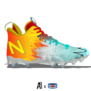 """Fire & Ice"" New Balance Freeze LX 3.0 Lacrosse Cleats"