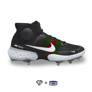 """G Stripes"" Nike Alpha Huarache Elite 3 Mid Cleats"