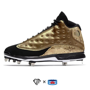 """Gold Leaf"" Jordan 13 Retro Cleats"