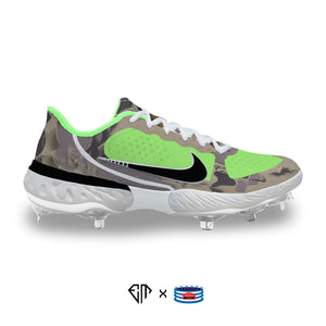 """Green Duck Camo"" Nike Alpha Huarache Elite 3 Cleats"