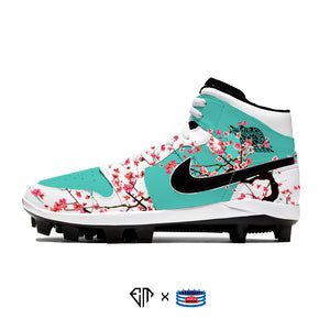 """Iced Tea"" Jordan 1 Retro Cleats"