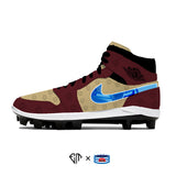 """Iron Man"" Jordan 1 Retro Cleats"