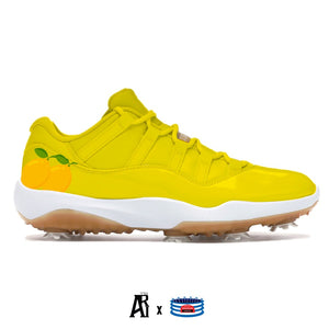 """Lemon"" Jordan 11 Retro Low Golf Shoes"