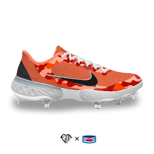 """Orange Duck Camo"" Nike Alpha Huarache Elite 3 Cleats"