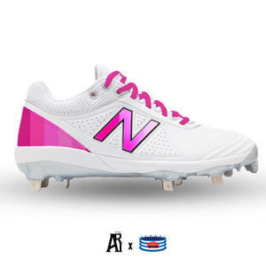 """Pink Gradient"" New Balance Women's FUSEV2 Cleats"