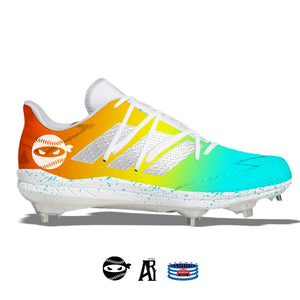"""Pitching Ninja- Multicolor"" Adidas Afterburner 7 Cleats"