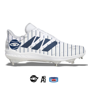 """Pitching Ninja- Pinstripes"" Adidas Afterburner 7 Cleats"