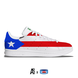 """Puerto Rico"" Adidas Stan Smith Casual Shoes"