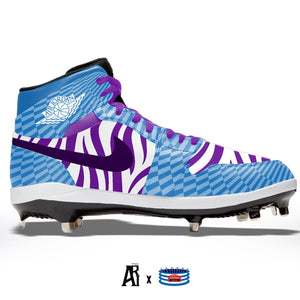 """Purple Zebra"" Jordan 1 Retro Cleats"