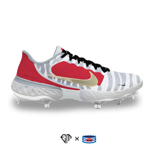 """Red Orbit"" Nike Alpha Huarache Elite 3 Low Cleats"