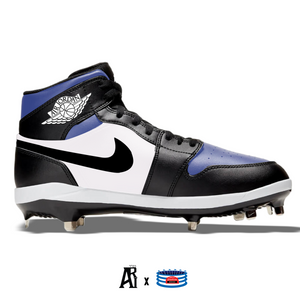 """Royal Toe"" Jordan 1 Retro Cleats"