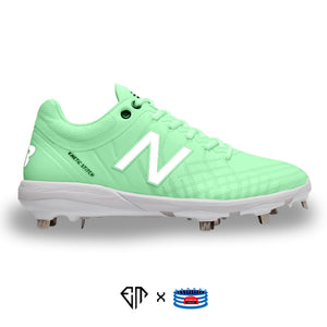 """Sea Green Pastel"" New Balance 4040v5 Cleats"