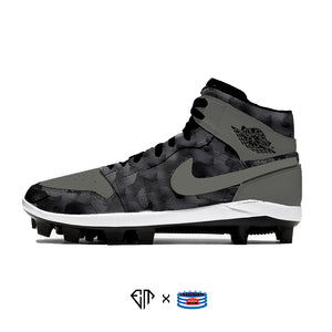 """Shadow Reflective Camo"" Jordan 1 Retro Cleats"