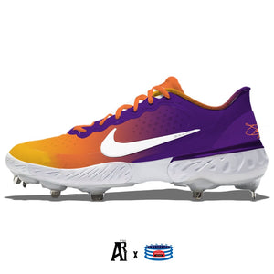 """Sunset"" Nike Alpha Huarache Elite 3 Low Cleats"